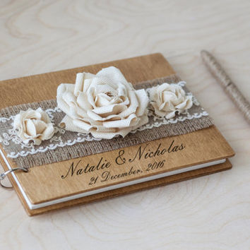 Wood Wedding Guestbook, Rustic Wedding Guestbook, Custom Guest Book, Rustic Guest Book