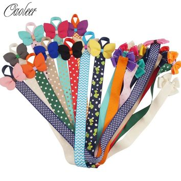 5pcs/lot Cute Kids Hair Clip Storage Tape Assorted CROWN Ribbon Hair Bows Hairpin Holder Children Hair Accessories Holding Band