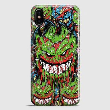 Spitfire Monster Skateboard Wheels iPhone X Case