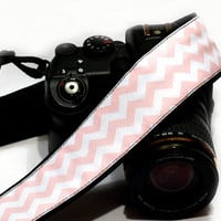 Chevron Camera Strap, dSLR Camera Strap, Pink Chevron,  SLR, Nikon, Canon Camera Strap, Men, Women Accessories