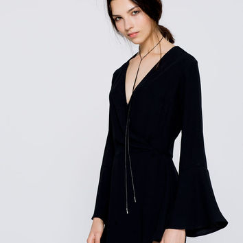 Cut-out jumpsuit dress - Dresses - Clothing - Woman - PULL&BEAR United Kingdom