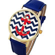 Red, White and Blue Nautical Anchor Watch