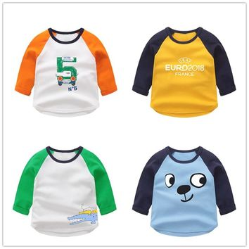 VIDMID Boys cotton kids T-Shirt Baby Boys Clothes Kids Long Sleeve T-shirts Children's clothing tops tees blouse 7042 06