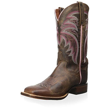 Dan Post Womens Leather Square Toe Cowboy, Western Boots