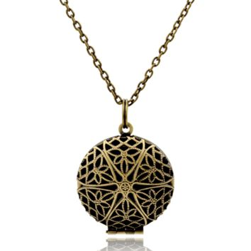 Antique Star Aromatherapy Diffuser Necklace for Essential Oils