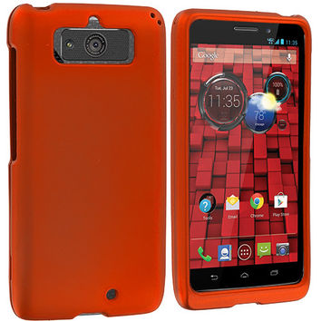 Orange Hard Rubberized Case Cover for Motorola Droid Mini XT1030