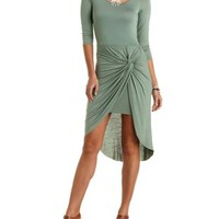 Ruched & Knotted Asymmetrical Dress by Charlotte Russe