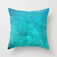 Decorative Throw Pillow - 4 different sizes to Choose From, With or Without Inserts, Indoors, Outdoors, Turquoise, Abstract