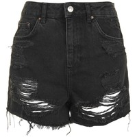 MOTO High Waisted Rip Mom Short | Topshop