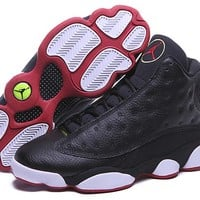 Air Jordan 13 Retro Playoffs Black White Red Basketball Shoes