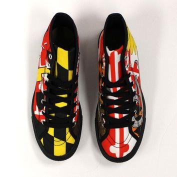 *PRE-ORDER* Maryland Flag Hightop / Shoes (2-3 Week Lead Time)