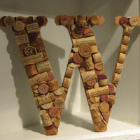 Wine Cork Letter W by MyMamaMaria on Etsy