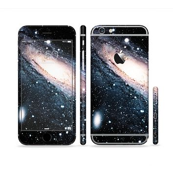 The Swirling Glowing Starry Galaxy Sectioned Skin Series for the Apple iPhone 6s Plus