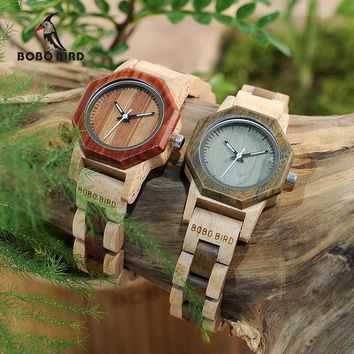 BOBO BIRD Duotone Wooden Quartz Watch