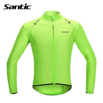 Santic Waterproof Cycling Jersey Long Sleeve Maillot Ropa Ciclismo Windproof Bicycle Clothing MTB Bike Jersey Cycle Raincoat