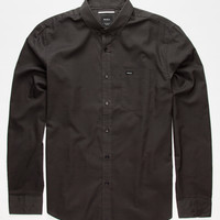 Rvca That'll Do Oxford Mens Shirt Pirate Black  In Sizes