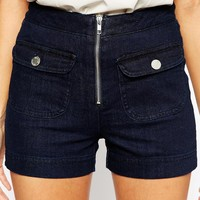 Warehouse 70's High Waist Denim Short