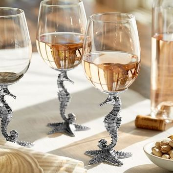 Seahorse Wine Glass, Set of 2
