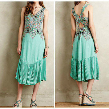 Anthropologie $168 Canyon Creek Dress by Maeve - NWT