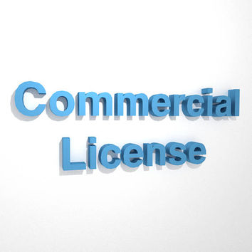 Commercial License for one 3D Paper Model Template (one template per license)