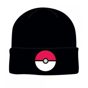 bioWorld Pokemon Pokeball Cuff Knit Adult Beanie Winter Cap Hat