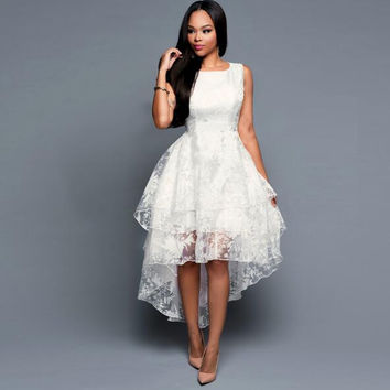 White Organza Dovetail Dress   12379