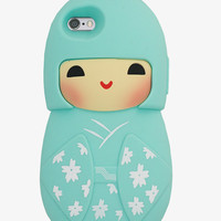 Mint 3D Japanese Doll IPhone Case
