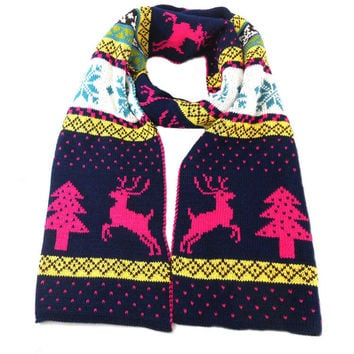 Korean Fashion Winter Couple Christmas Bohemia Double Sided Scarf(Size:200-210 cm) [9600582927]
