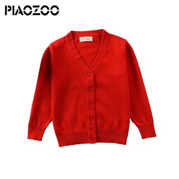 Girls Candy Color Sweaters Casual Cotton V neck Cardigans Toddler Kids Sweater Cardigans Knitwear Children Outerwear P20