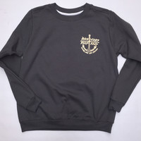 """Bare Wires """"Anchor"""" Womens Crew"""