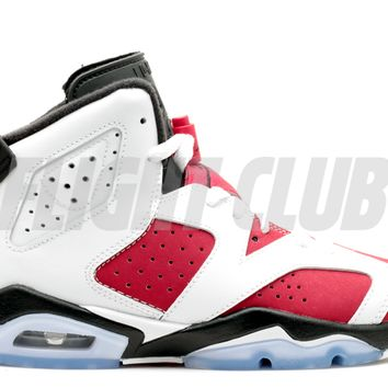 "air jordan 6 retro bg (gs) ""carmine"" - white/carmine-black - Air Jordan 6 - Air Jordans 