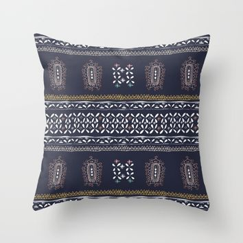 Moroccan Indigo Throw Pillow by Yaansoon | Society6