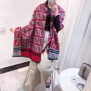 """""""FENDI""""Woman Casual Fashion Classic Comfortable Double Sided  Letter Pattern Scarf"""
