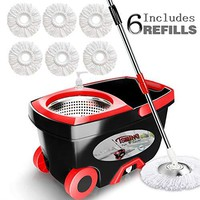 360 Spin Mop with Stainless Steel Bucket System