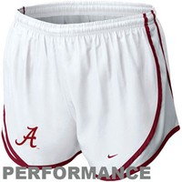Nike Alabama Crimson Tide Ladies Tempo Performance Shorts - White