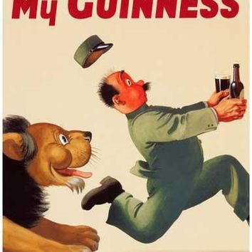 Guinness Beer My Goodness Lion Poster 11x17