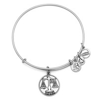 Alex and Ani Libra Charm Bangle Bracelet - Rafaelian Silver Finish