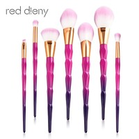 7/10pcs Diamond Unicorn Makeup Brush Set
