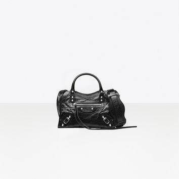 Women's Black Classic Silver Mini City | Balenciaga