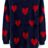 VFILES - HEART KNITTED MINI DRESS