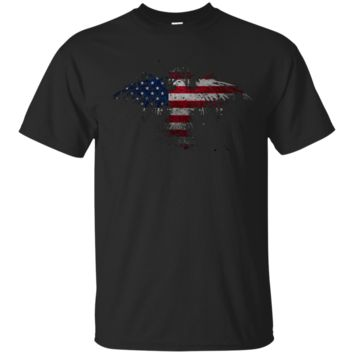 American Flag Eagle Men's Tee Shirt