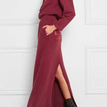 Vetements - Printed cotton-blend jersey maxi skirt