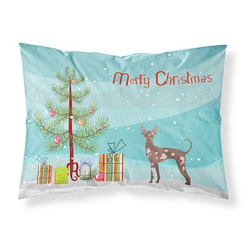 Mexican Hairless Dog Christmas Tree Fabric Standard Pillowcase CK3473PILLOWCASE