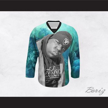 Biggie Smalls 21 Blue Clouds Hockey Jersey