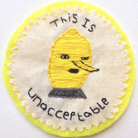 Lemongrab Adventure Time Handmade Patch