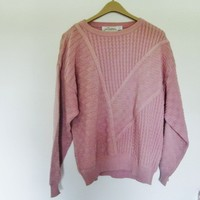 Knit pink vintage sweater