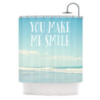 "Susannah Tucker ""You Make Me Smile"" Beach Sky Shower Curtain"