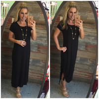 Away We Go Maxi Dress: Black