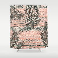Tropical Aztec Shower Curtain by Girly Trend | Society6