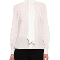 Bottega Veneta Cotton Blouse w/Neck Tie